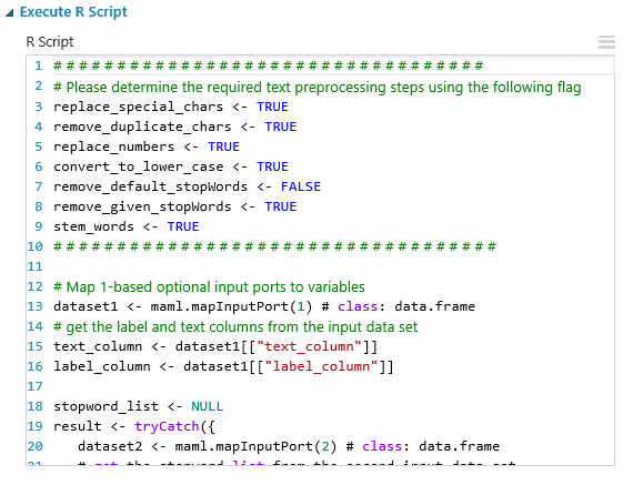 Text Classification: Step 2 of 5, text preprocessing | Azure
